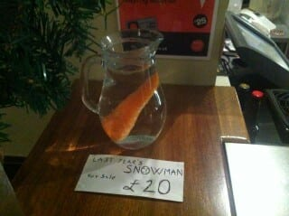 For sale: Last year's snowman...