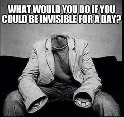 Would my camera be #invisible too?